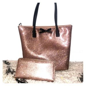 Kate spade tote bag with wallet.